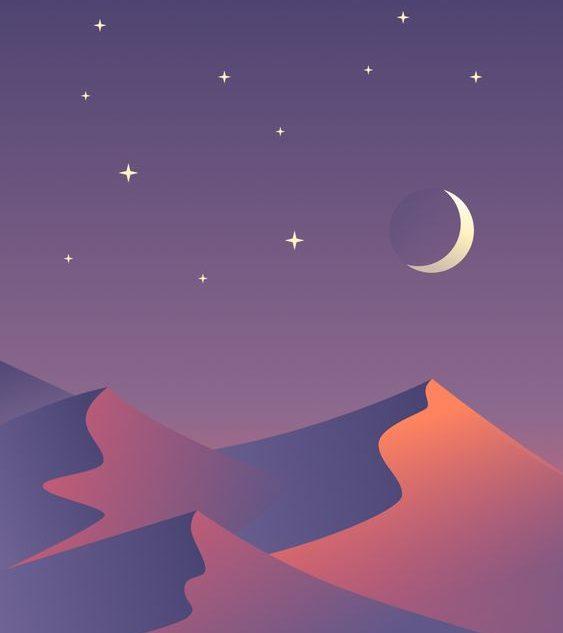 langit padang pasir